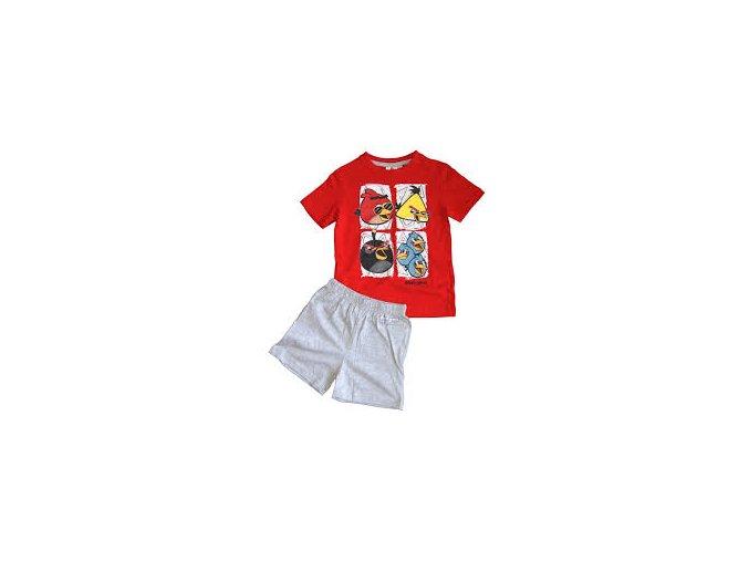 Pyžamo Angry Birds červené/šedé 104/4 roky