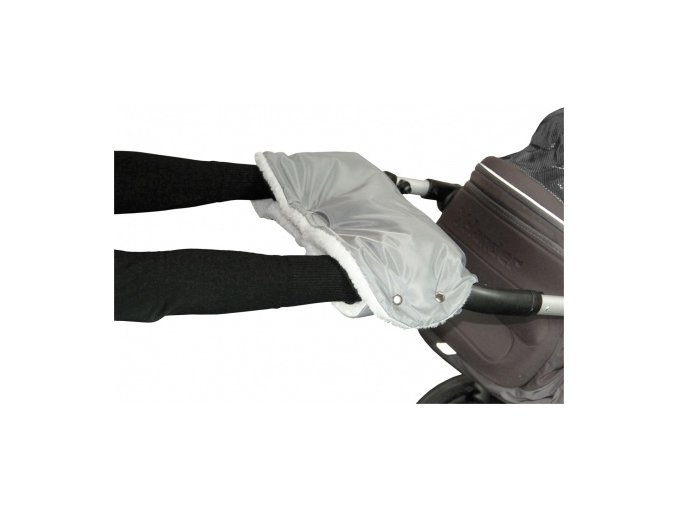 Rukávník ke kočárku šedý+50% kožich Emitex