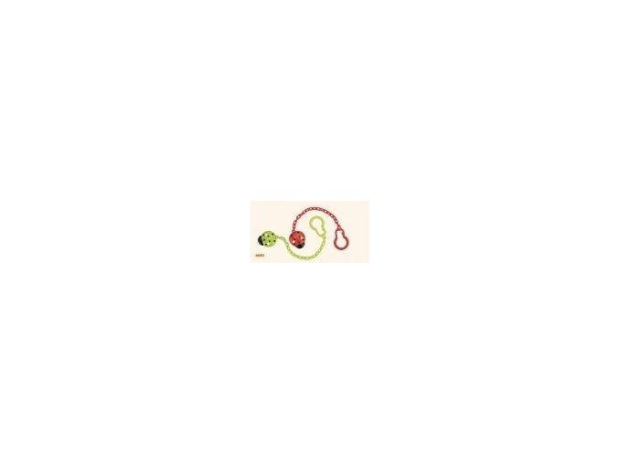 Řetízek k šidítku beruška zelená