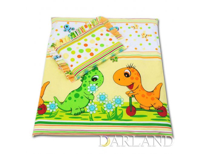 Sada do kočárku Dinosauři žlutí Darland