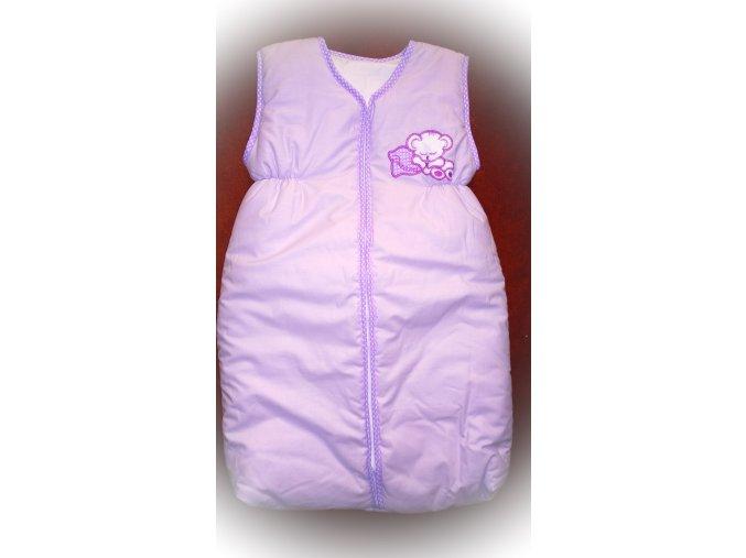 Elan Luxusní spací vak s výšivkou fialový