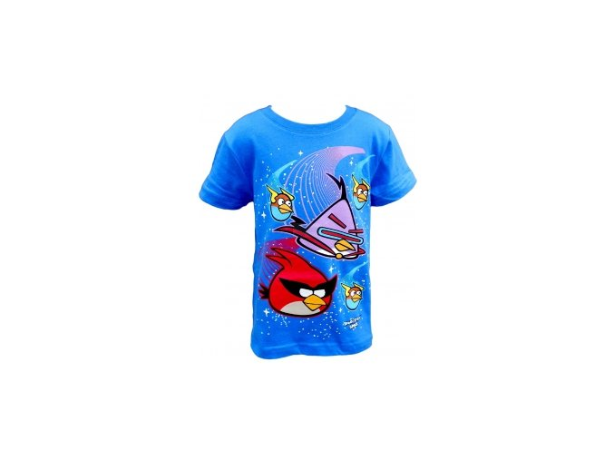 Tričko Angry Birds krátký rukáv modré new vel.110