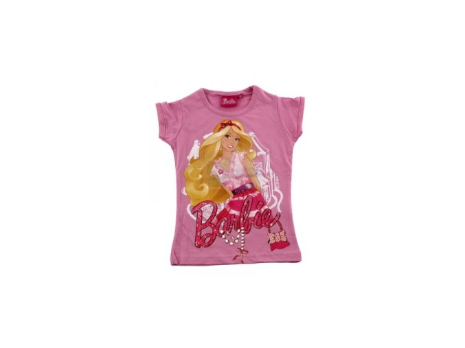 Tričko Barbie růžové 98