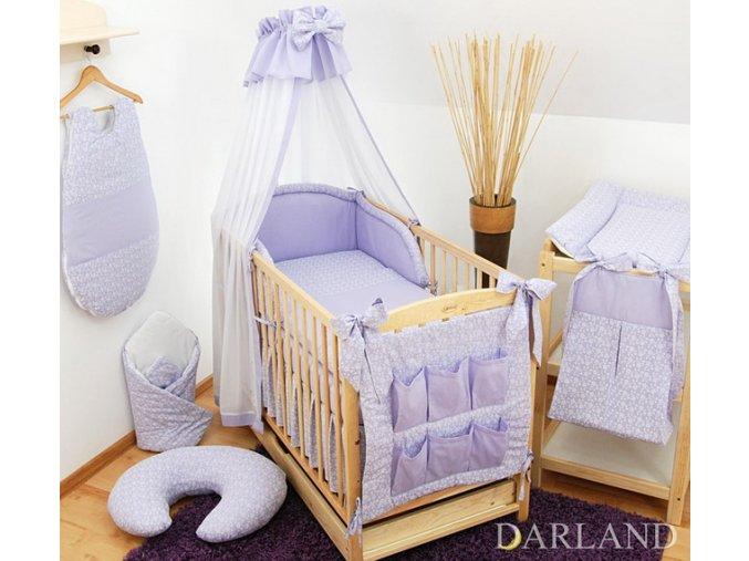 Dětská postýlka - fialové provedení