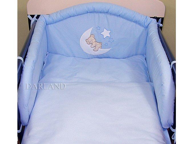 Darland 3-dílná sada medvídek na měsíci s výšivkou modrý Darland