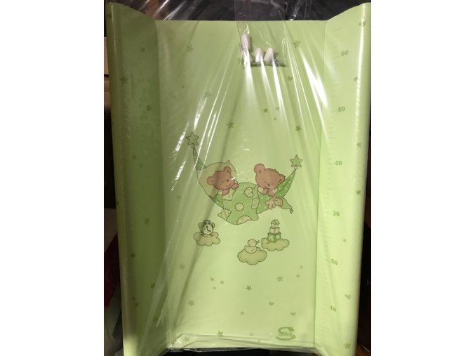 prebalovaci podlozka tvrda zelena medvidci