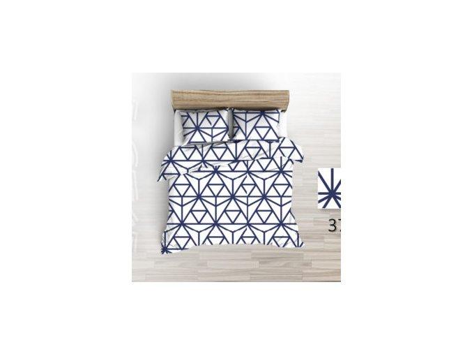 flanelove povleceni geometrie modra