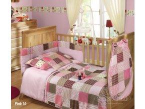 Baby Matex 5-dílná sada Patchwork pink
