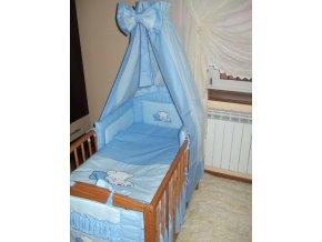 8-dílná luxusní sada s výšivkou modrá