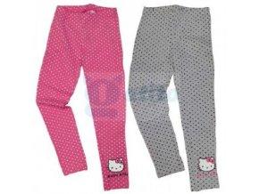 Bavlněné legíny  puntíky Hello Kitty šedé 98/104