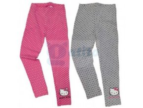 Bavlněné legíny s puntíky Hello Kitty růžové 110/116