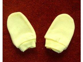Bavlněné rukavičky pro miminka žluté vel.56
