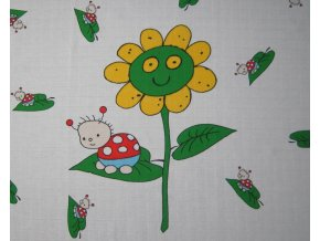 Bavlněné tetra osušky 90x100 - Beruška a slunečnice- 2 ks