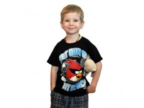 Bavlněné tričko Angry Birds černé 98/104
