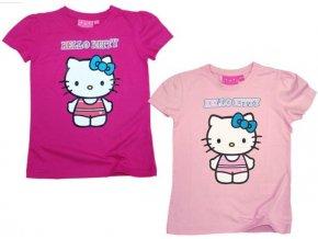 Bavlněné tričko Hello Kitty světle růžové 128/134