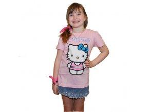 Bavlněné tričko Hello Kitty světle růžové 92/98