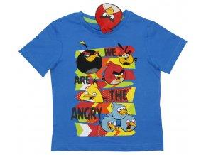 Bavlněné tričko We are Angry Birds modré 128
