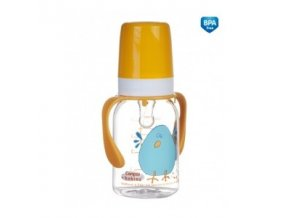 Canpol Babies Láhev s potiskem 120ml a úchyty bez BPA 11/823