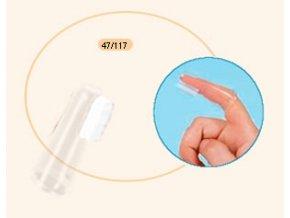 Canpol Babies Silikonový zubní kartáček na prst 47/117