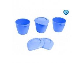 Canpol Babies Zásobníky s víčkem BASIC 3ks modré