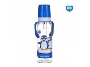 Canpol Láhev s potiskem kontinenty 250 ml s úchyty bez BPA11/846