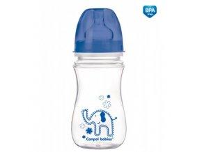 Canpol láhev se širokým hrdlem jednobarevná 240ml modrá