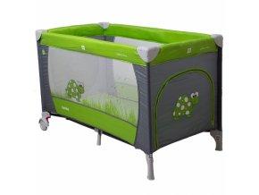 Cestovní postýlka SAMBA DINO CoTo Baby Zelená