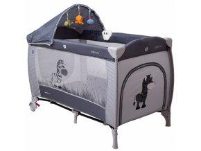 Coto Baby Luxusní cestovní postýlka Samba LUX NEW zvířátko šedé