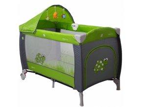 Coto BabyLuxusní cestovní postýlka Samba LUX NEW zvířátko zelené