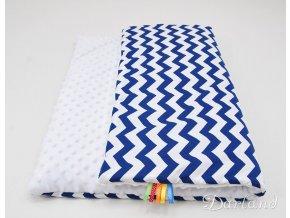 DARLAND Deka MINKY 75x100 Cik cak modrý/bílá