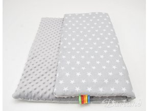 DARLAND Deka MINKY 75x100 letní Hvězdičky bílé na šedém/šedá