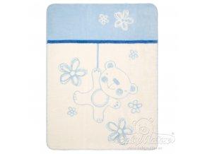 Deka Teddy Collection modrá