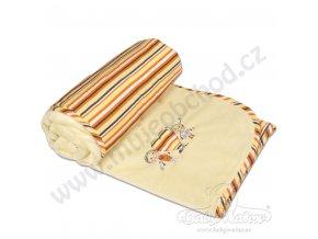 Dětská deka LOVE Babymatex béžová