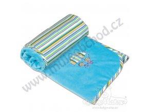 Dětská deka LOVE Babymatex modrá