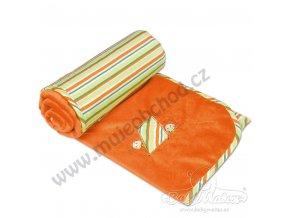 Baby Matex Dětská deka LOVE oranžová
