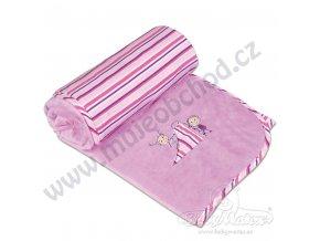 Dětská deka LOVE Babymatex růžovo fialová