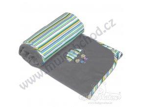 Dětská deka LOVE Babymatex tmavě šedá