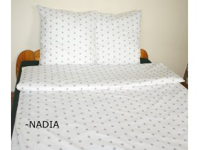 Dětské povlečení 140x200,70x80 Hvězdičky šedé na bílém