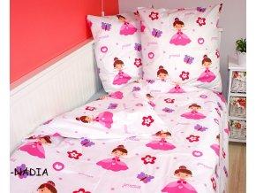 Dětské povlečení 140x200,70x80 Růžová princezna