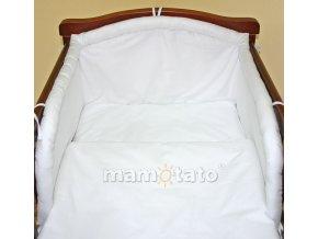 2-dílné povlečení jednobarevné Bílé 135x100