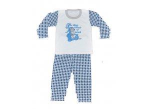 Dětské pyžamo vel.98 Two little friends bílé s kostičkou