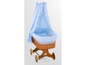 Dětský koš (kočárek) z podvozkem Scarlett Méďa modrý