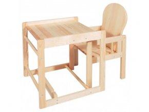Dřevěná židlička - Scarlett kombi - masiv borovice