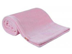 Emitex Deka fleece 70x100 cm  Růžová s výšivkou