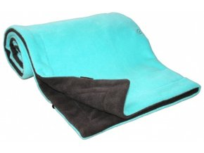 Emitex Deka fleece 70x100 cm Antracit + Aqua