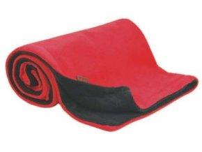 Emitex Deka fleece 70x100 cm antracit + červená