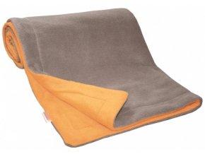 Emitex Deka fleece 70x100 cm Hnědá + oranžová