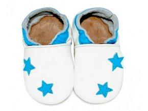 Fiorino Kožené capáčky Hvězdičky modré M
