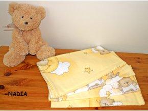 Flanelové plenky - medvídci na žebřících krémoví