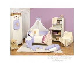 Baby Matex 2-dílné povlečení Teddy Collection fialové